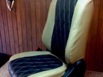 Оригинальные модельные чехлы на сидения для автомобиля Mitsubishi Outlander 2012-2015 (материал: твид, кожзам; любые тона)