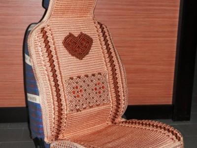 Накидки-чехлы льняные (на передние сидения) (9 цветовых гамм)