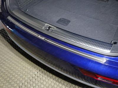 Накладка на задний бампер защитная из нержавеющей стали в ассортименте для Audi Q5 2016- н.в.,  (TCC)
