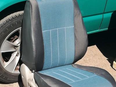 Оригинальные модельные чехлы на сидения для автомобиля Nissan Patrol (Y61) 1997-2013 (материал: твид, кожзам; любые тона)