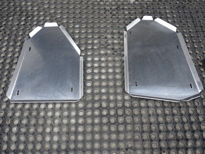 Защита бака (левая и правая) (TCC) для Audi Q3 2011- н.в., (алюминий) 4 мм