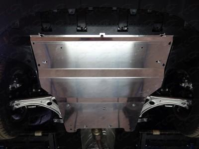 Защита картера (TCC) для Audi Q3 2011- н.в., (алюминий) 4 мм