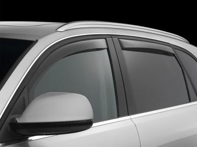 Дефлекторы окон (Weathertech) (USA) для Audi Q5 2008-2016, (передние, задние; тёмные, светлые)