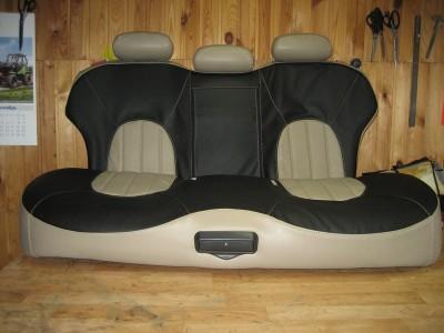 Оригинальные модельные чехлы на сидения для автомобиля Toyota Corolla седан 2007- 2013 (материал: твид, кожзам; любые тона)