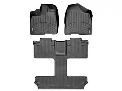 Коврики в салон 3D WeatherTech для автомобиля Toyota Sienna 2010-2012, комплект: 3 шт. 7мест