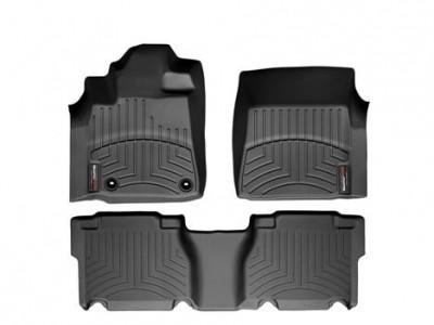 Коврики в салон 3D WeatherTech для автомобиля Toyota Tundra Crew Max 2011-2013, комплект: 3 шт.
