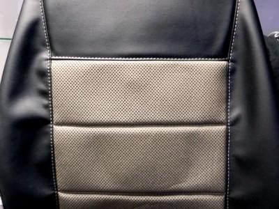 Оригинальные модельные чехлы на сидения для автомобиля Kia Sorento 2002-2009 (материал: твид, кожзам; любые тона)